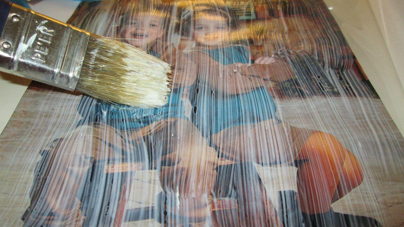 לעפרונות מבטון 44 - העברת תמונה ללוח קנבס