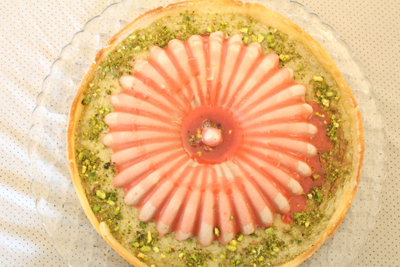 IMG 3917 - טרטלת תותים על מצע פסטוק