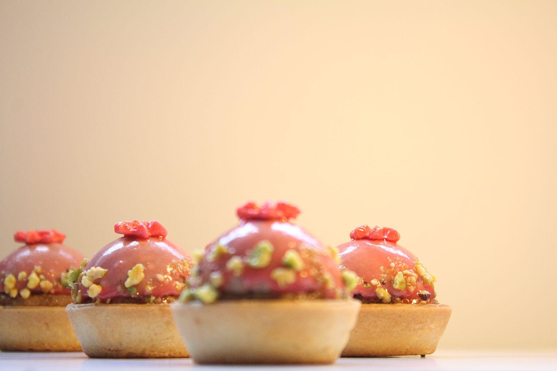 IMG 4054 - טרטלת תותים על מצע פסטוק