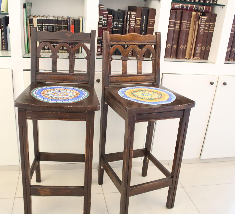 IMG 4962 - שיפוץ כסאות בר ישנים