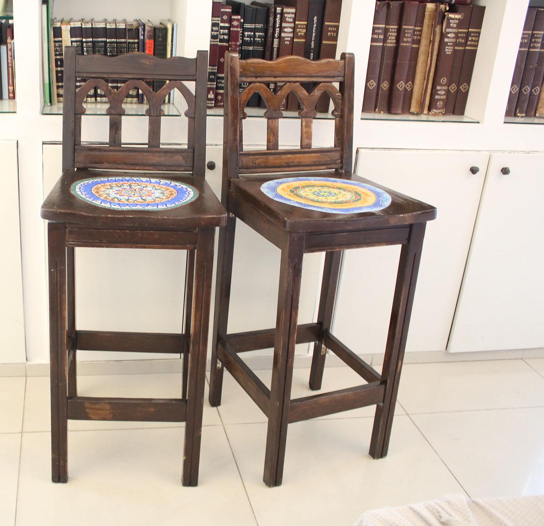 IMG 4963 - שיפוץ כסאות בר ישנים