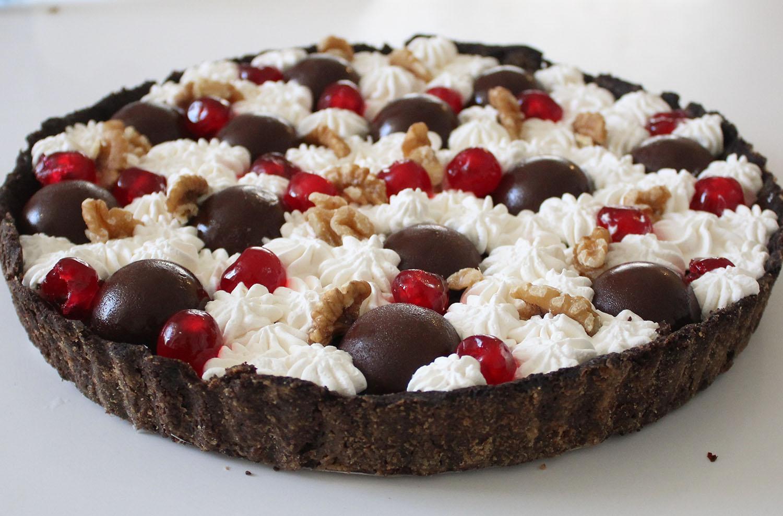 IMG 5091 - טארט שוקולד ודובדבנים