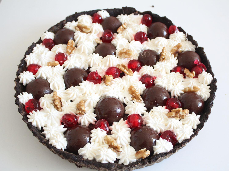 IMG 5096 - טארט שוקולד ודובדבנים
