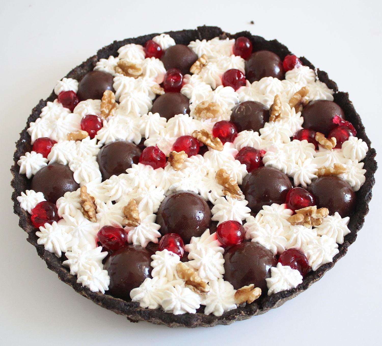 IMG 5097 - טארט שוקולד ודובדבנים