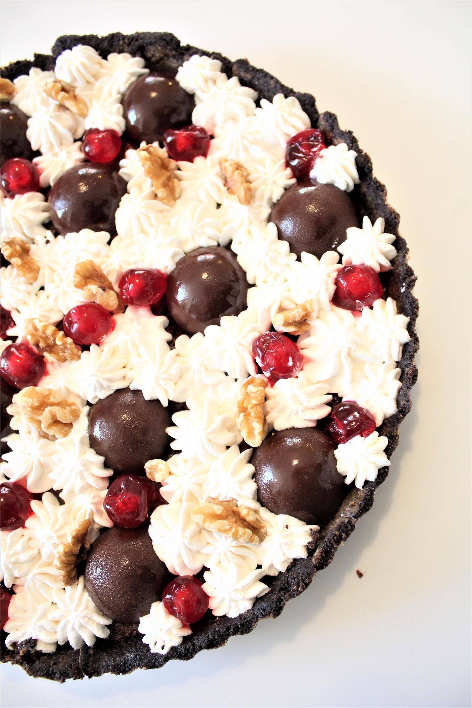 IMG 5105 - טארט שוקולד ודובדבנים