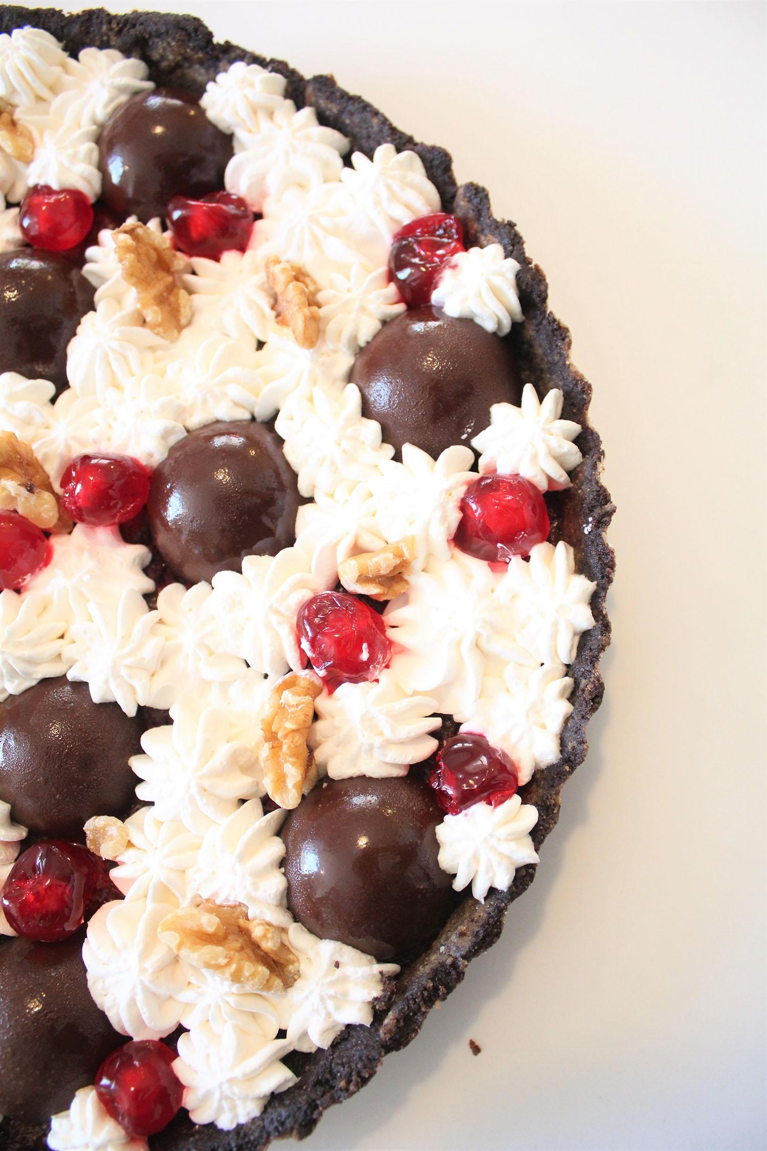 IMG 5106 - טארט שוקולד ודובדבנים