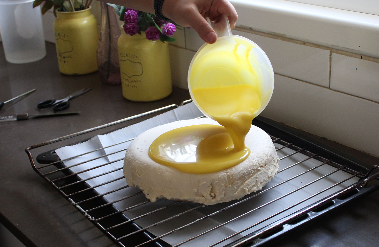 IMG 4609 1 - עוגת שכבות אננס ושוקולד לבן