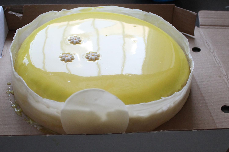 IMG 4619 - עוגת שכבות אננס ושוקולד לבן