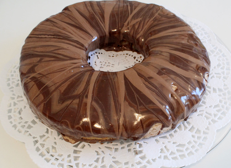 IMG 6279 - עוגת טורט מוס קפה פרלין