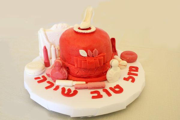 IMG 7272 600x400 - עוגת יומולדת איפור לילדה קטנה
