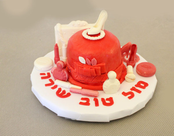 IMG 7276 600x470 - עוגת יומולדת איפור לילדה קטנה