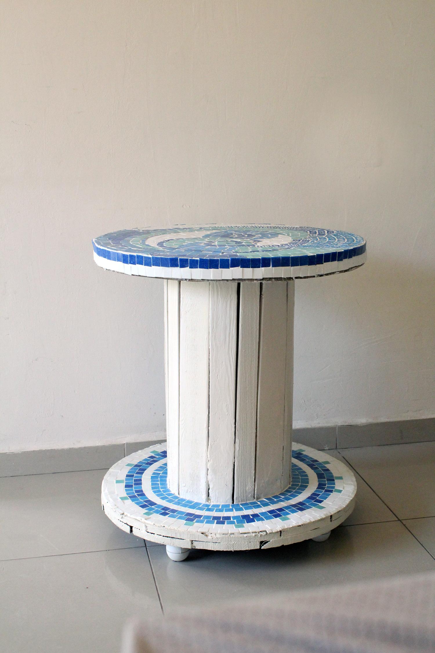 IMG 7446 - שולחן פסיפס מסליל חשמל