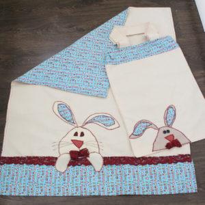IMG 7501 300x300 - סט שמיכה רקומה ותיק לעגלת תינוק