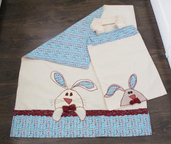 IMG 7501 600x504 - סט שמיכה רקומה ותיק לעגלת תינוק