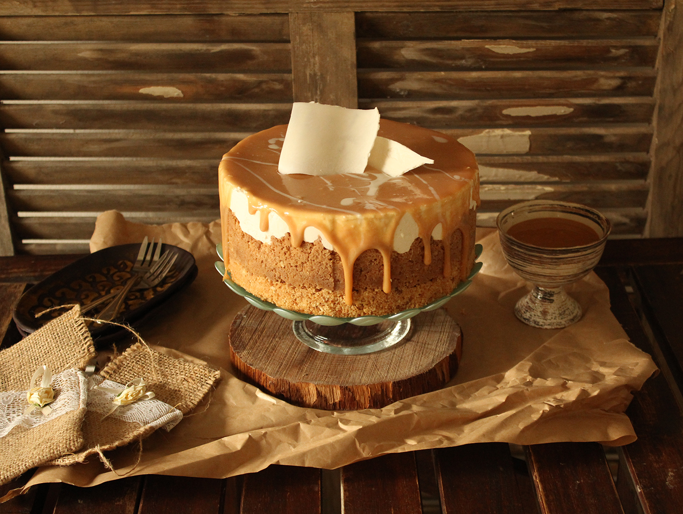IMG 8304 - עוגת גבינה בציפוי ריבת חלב