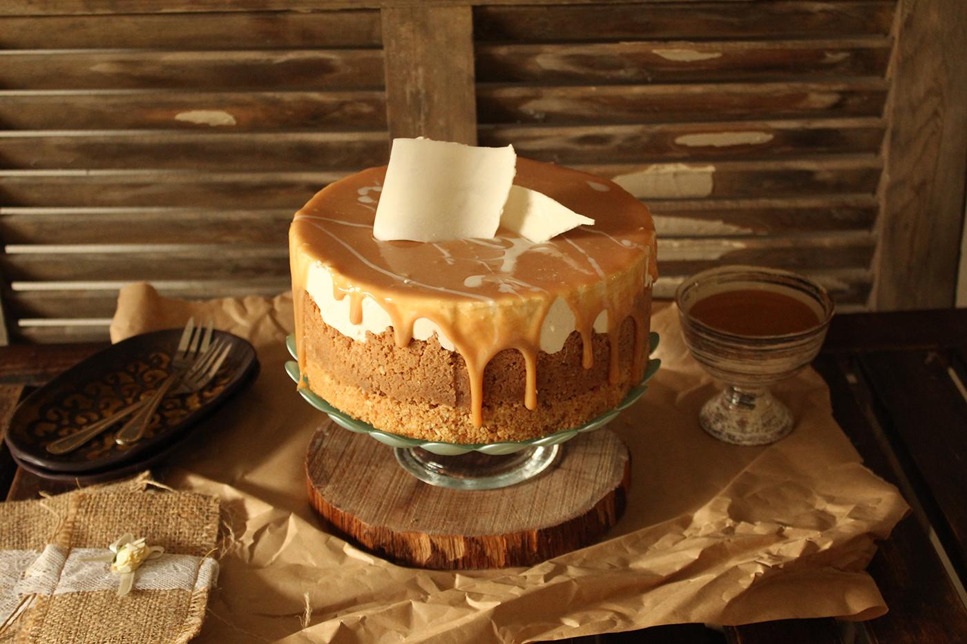 IMG 8308 - עוגת גבינה בציפוי ריבת חלב