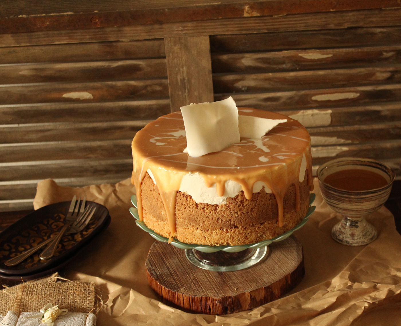 IMG 8309 - עוגת גבינה בציפוי ריבת חלב