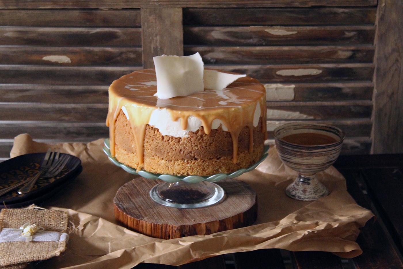 IMG 8320 - עוגת גבינה בציפוי ריבת חלב