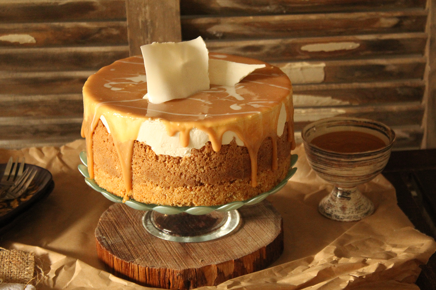 IMG 8321 - עוגת גבינה בציפוי ריבת חלב