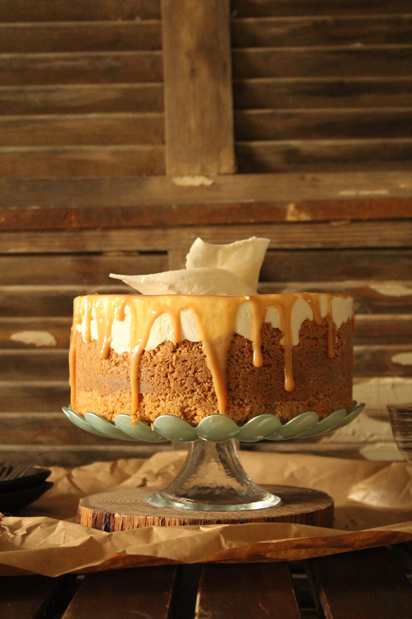 IMG 8346 - עוגת גבינה בציפוי ריבת חלב