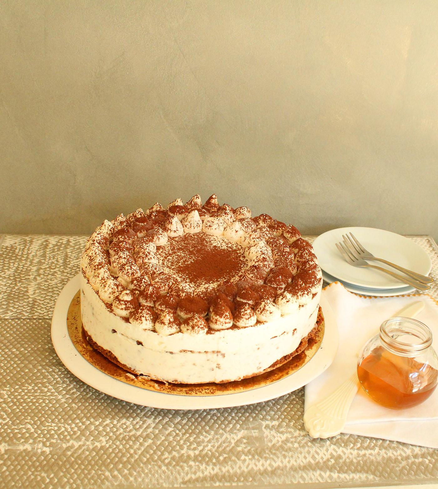 IMG 9724 - עוגת טרימיסו דבש ופקאן