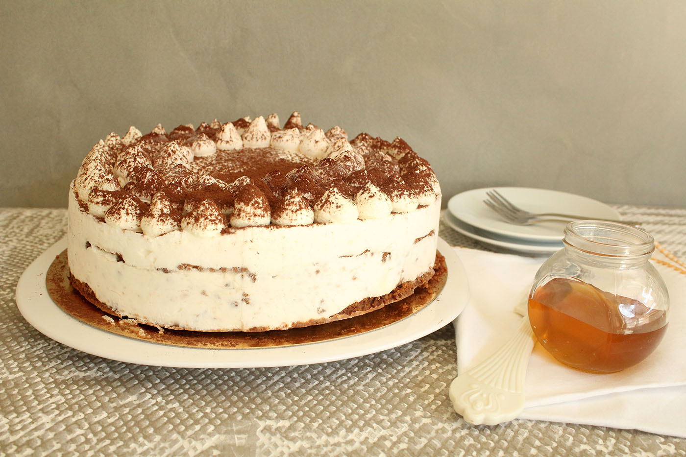 IMG 9734 - עוגת טרימיסו דבש ופקאן