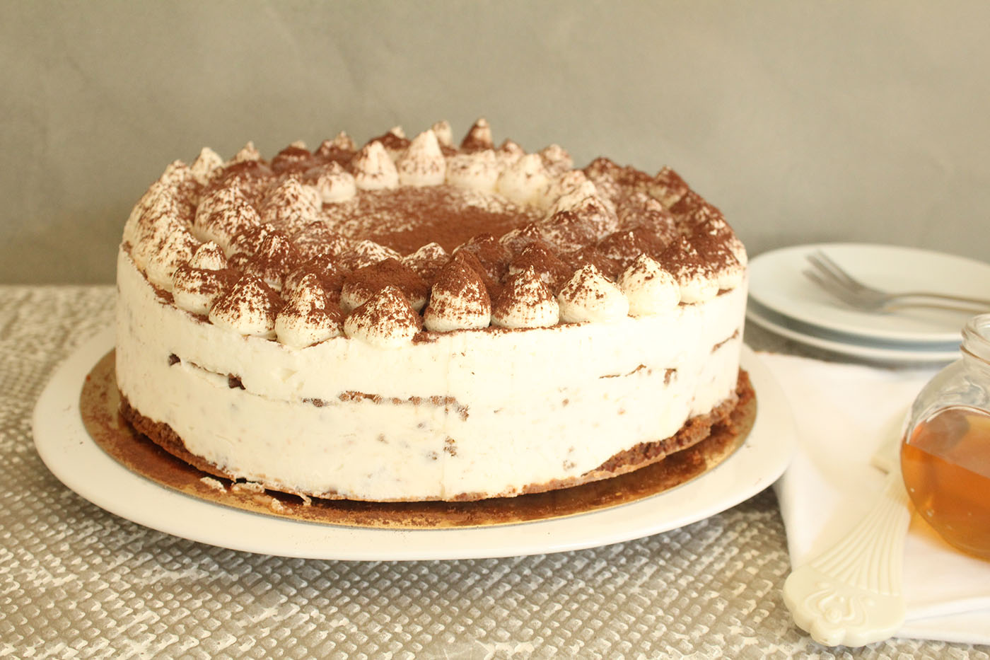 IMG 9737 - עוגת טרימיסו דבש ופקאן