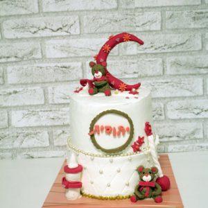 3 300x300 - עוגת קומותים להולדת בת