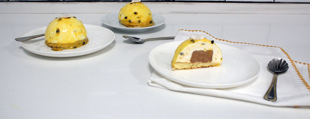 IMG 1857 - קינוח :מוס פסיפלורה ושוקולד