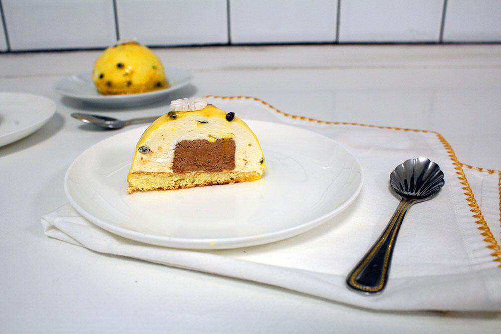 IMG 1858 - קינוח :מוס פסיפלורה ושוקולד