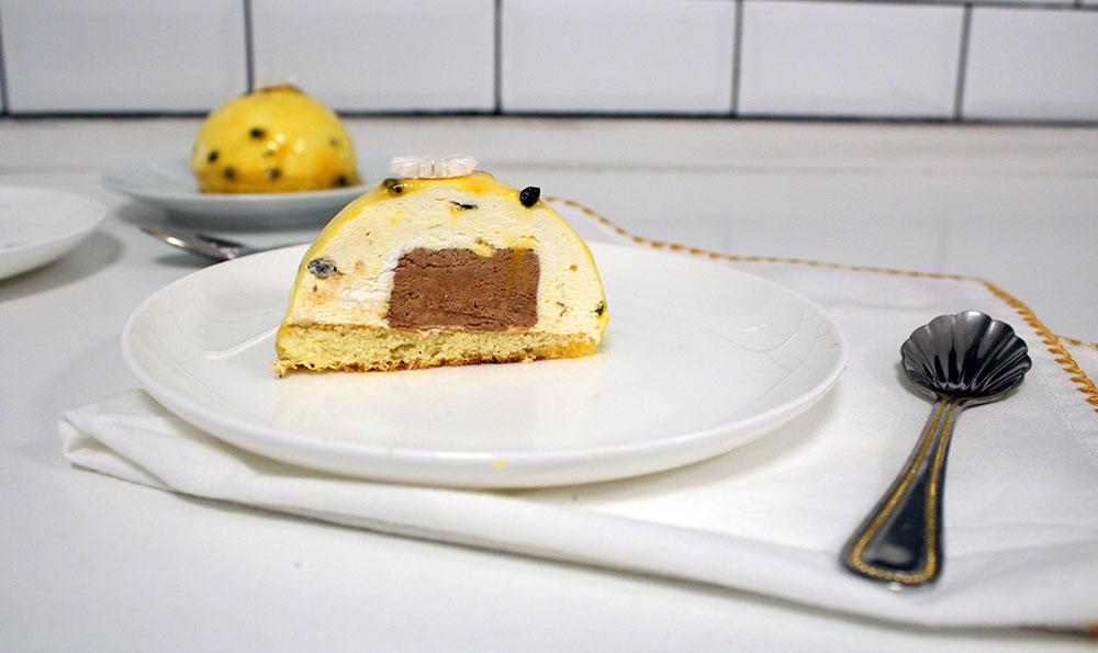 IMG 1859 - קינוח :מוס פסיפלורה ושוקולד