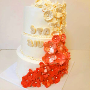חתונה 300x300 - עוגת חתונה מפוארת 3 קומות