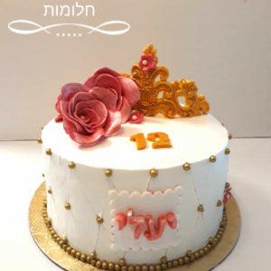 Untitled 1 3 300x300 - עוגת בת מצוה כתר ושושנים