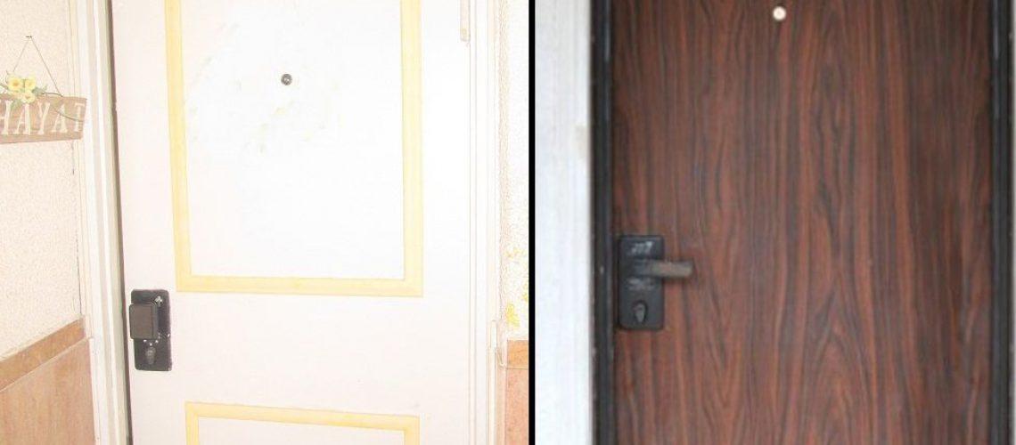 לפני ואחרי דלת פלדלת