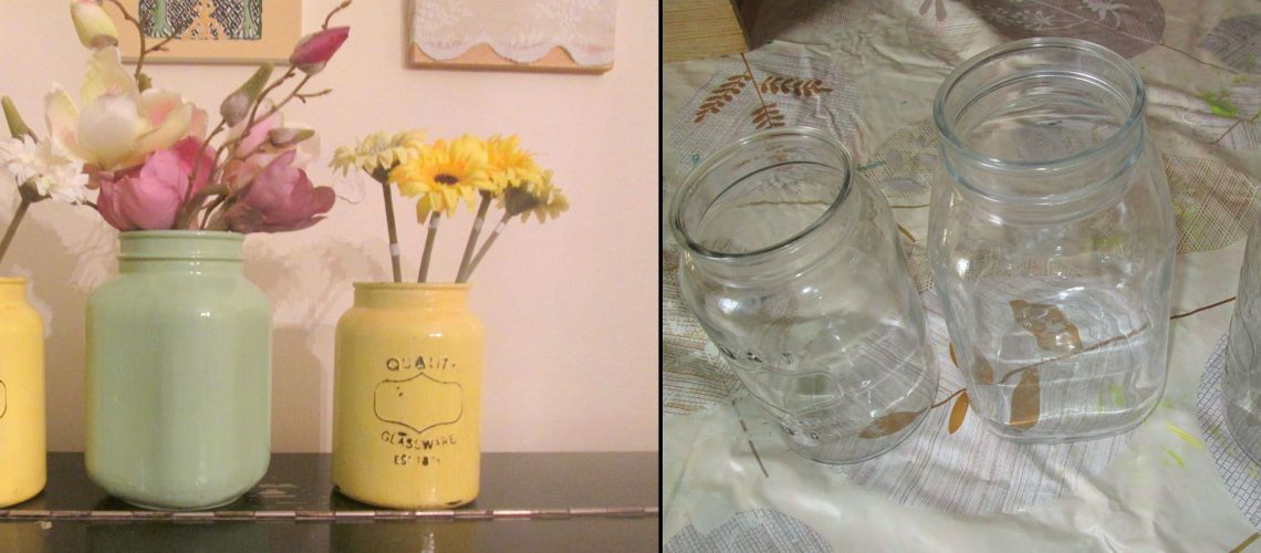מצנצנת שקופה לאגרטל פרחים